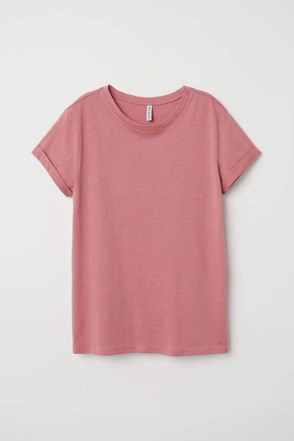3ccbdd175fcc2 H&M H & M - T-shirt - Dark vintage pink - Women | shirts in 2019 ...