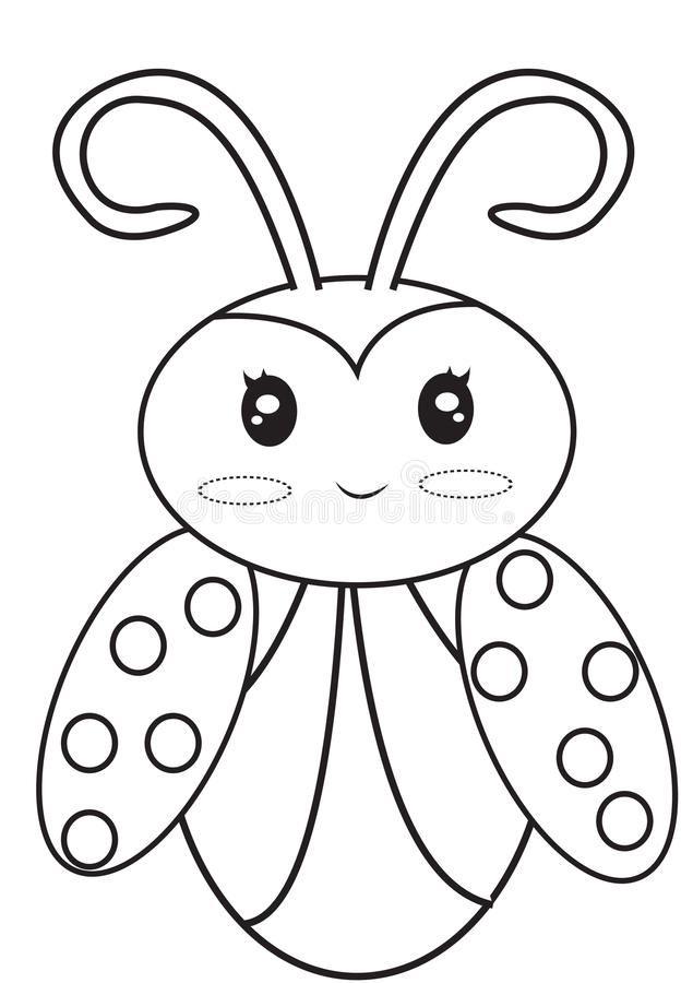 Printable coloring pages of Ladybugs. Ladybug printable