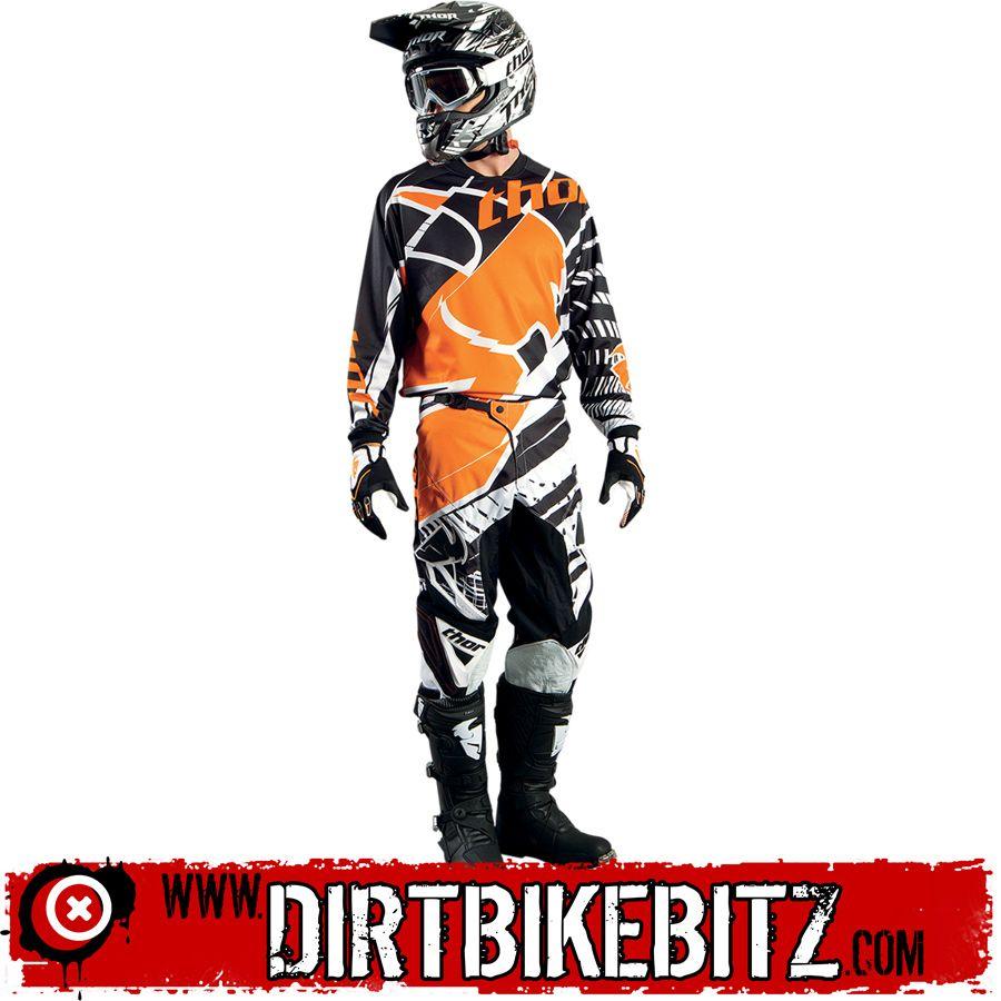 2014 Thor Phase Motocross Kit Combo - Mask Orange - 2014 Thor Motocross Kit Combos - 2014 Thor Motocross Kit - 2014 Motocross