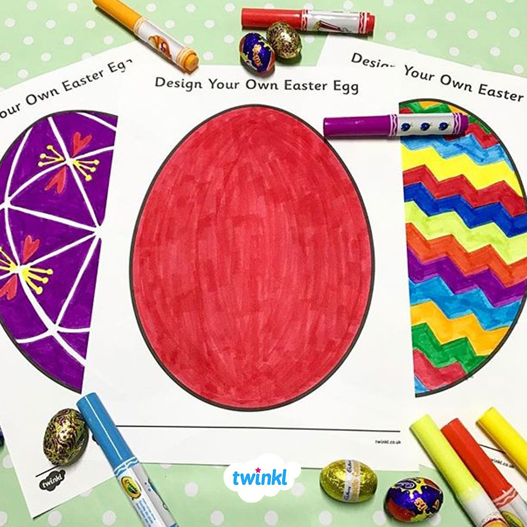 Get Crafty With These Easter Egg Design Colouring Sheets