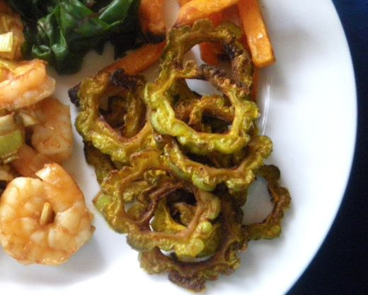 No-Fry Karela Crispies (Bitter Melon) Recipe - Indian.Food.com