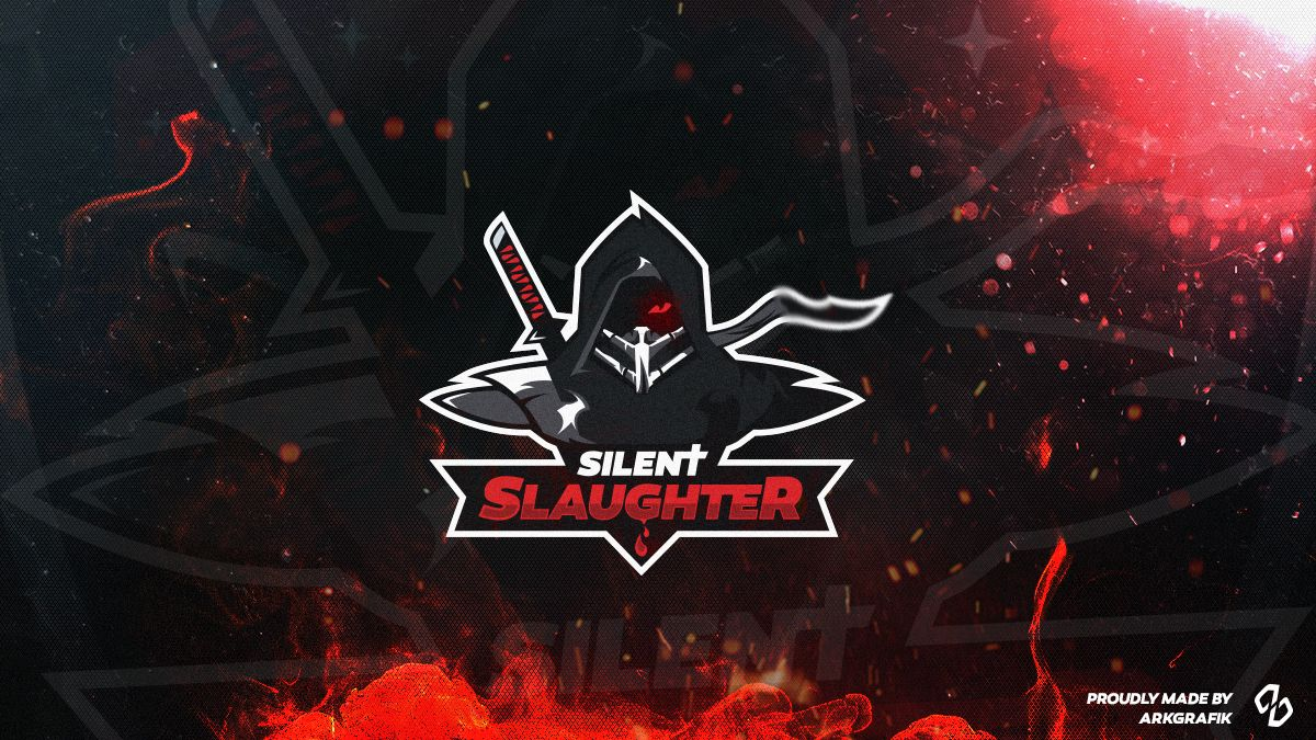 silentSlaughter gaming logo on Behance Logos esportivos