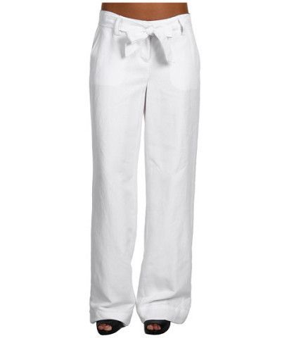 Casual Linen Pants for Women | Calvin Klein Tie Front Linen Pant ...