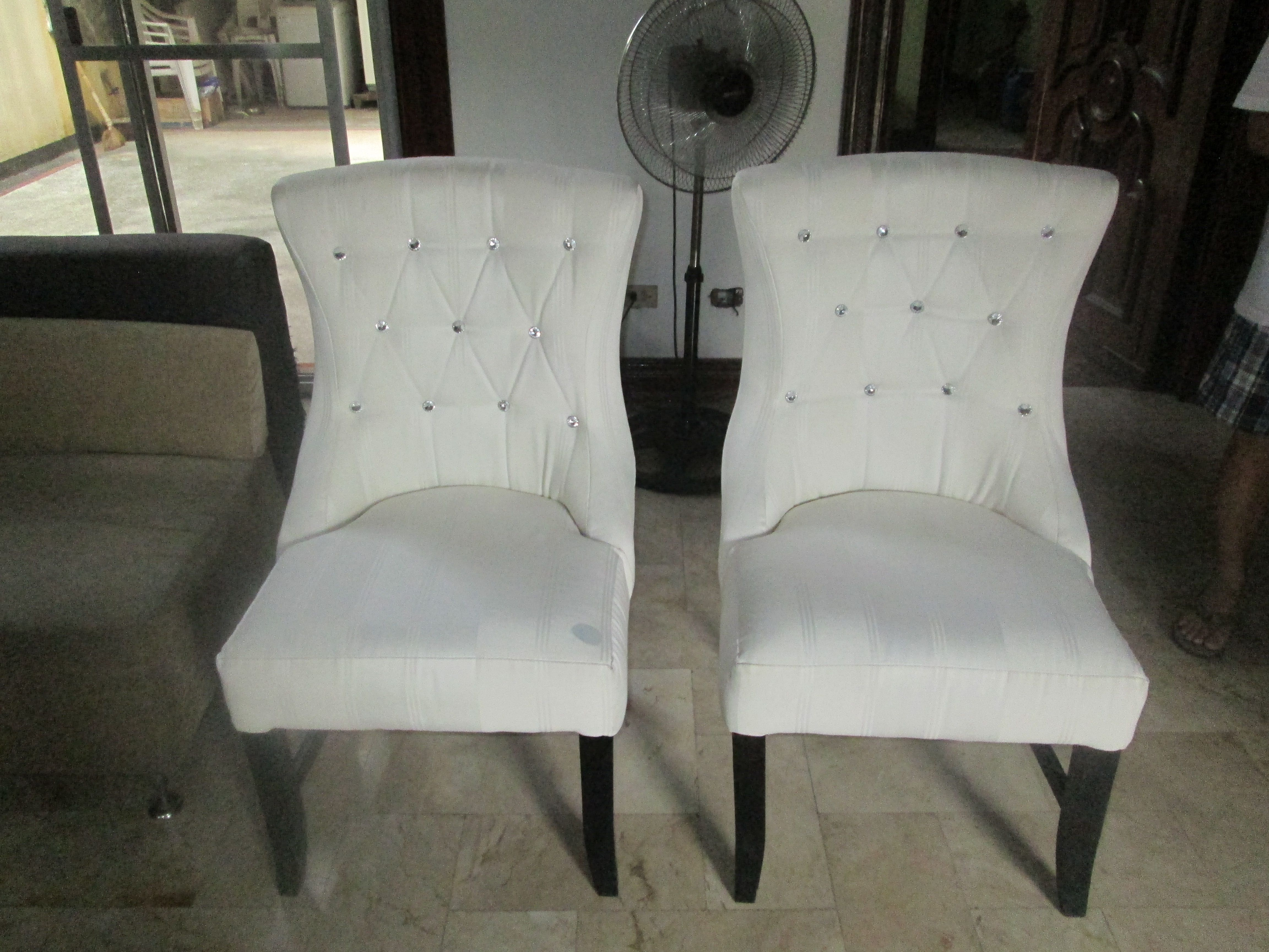 Wondrous Re Upholstery Of High Back Accent Chair Two 2 Pieces Bralicious Painted Fabric Chair Ideas Braliciousco