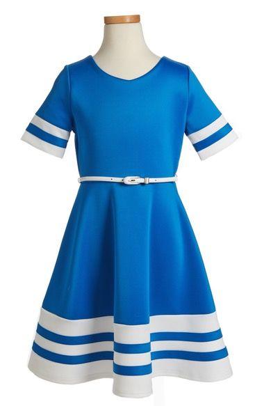 42ad76c7de27c Main Image - BLUSH by Us Angels Scuba Fit & Flare Dress (Big Girls ...