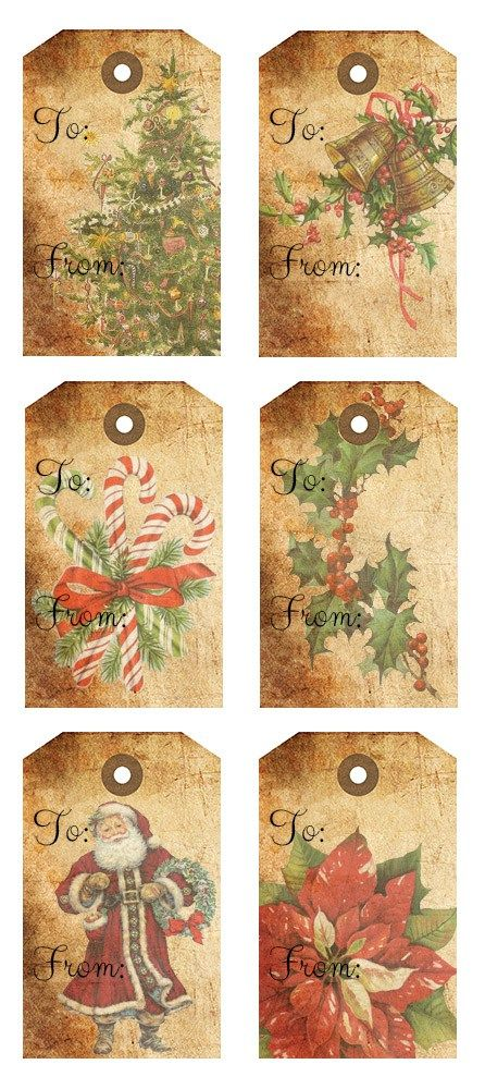 Rustic Christmas Gift Tags Free Printables | Rustic christmas, Free ...