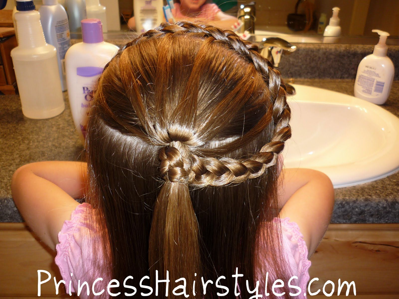Princess style headband with rays of sunshine braided ponytail