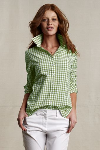 I love this shirt.  Perfect color for spring.  I could use some button downs.  I'd wear it like a normal person though.  LOL