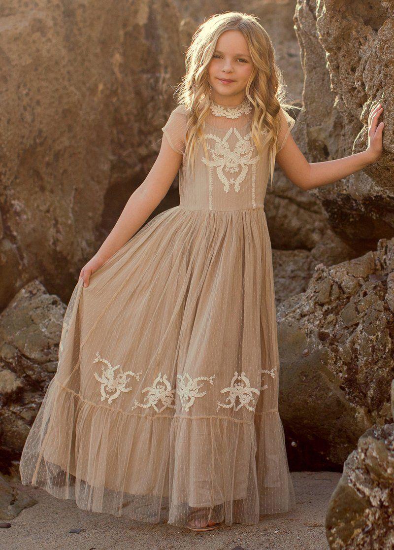 Jolie Maxi Dress In Tan Girls Maxi Dresses Girls Dresses Dresses [ 1116 x 800 Pixel ]