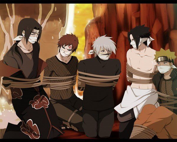 Naruto guys kidnapped haha....gaara looks so adorable here >.< squeeee