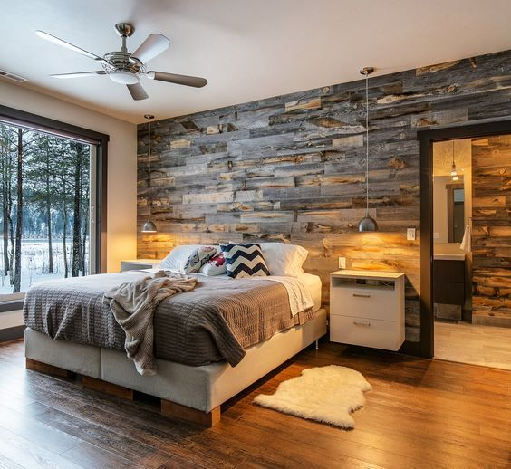 Wood Accent Wall Bedroom Ideas: Amazing And Easy To Do Wood Walls Ideas In 2019
