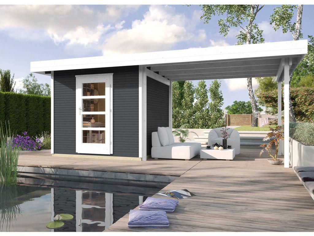 Gartenhaus Designhaus Wekaline 172 B Gr 1 28 Mm Anthrazit Gartenhaus Bauen Gartenhaus Gartenhaus Modern