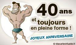 Carte Anniversaire 40 Ans Hommes Humour Pinterest