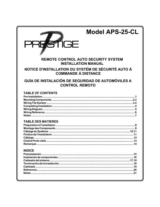 prestige alarm wiring diagram  audiovox remote control auto