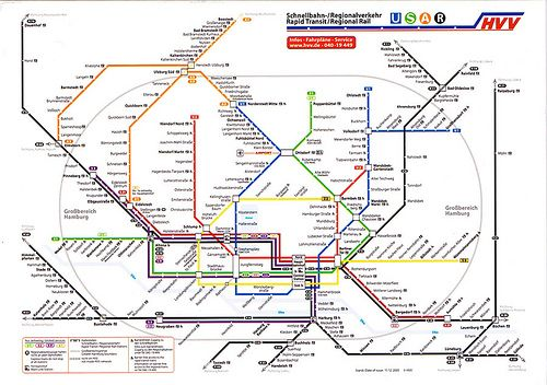 Hamburg Subway Map.Hamburg U Bahn Map Postcard Travel Subway Map Train Map Hamburg