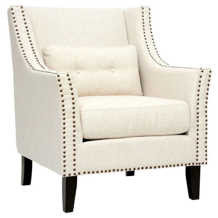 Albany Club Chair In Beige With Images Modern Lounge Chairs