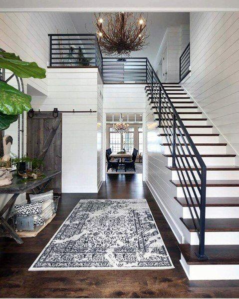 Top 50 Best Shiplap Wall Ideas - Wooden Board Interiors #staircaseideas