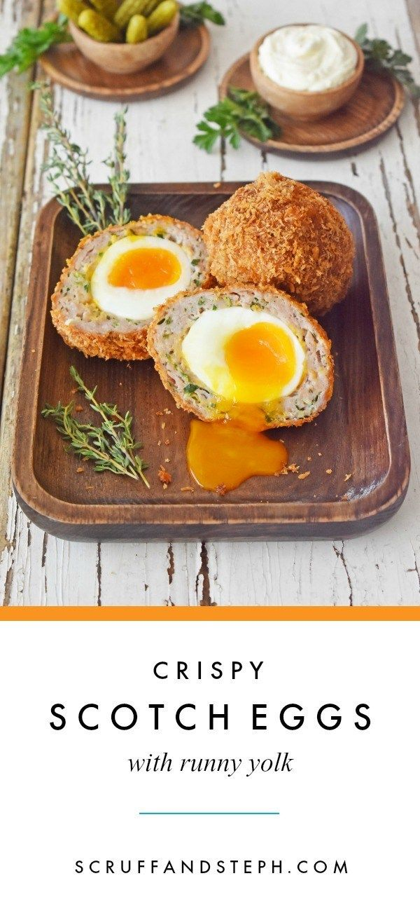 Crispy Scotch Eggs with Runny Yolk - Scruff & Steph