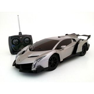 grey lamborghini veneno 1 18 scale remote control supercar. Black Bedroom Furniture Sets. Home Design Ideas