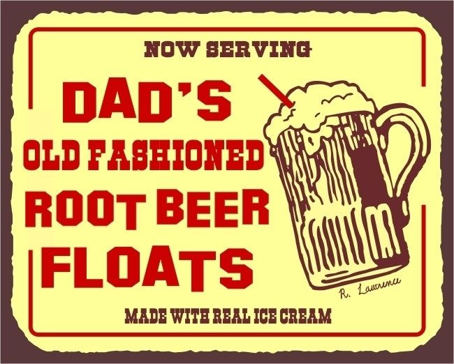 Dad's Root Beer Floats Made With Real Ice Cream Shop Vintage Metal Art Wall Decor Retro Tin Sign. $36.00, via Etsy.