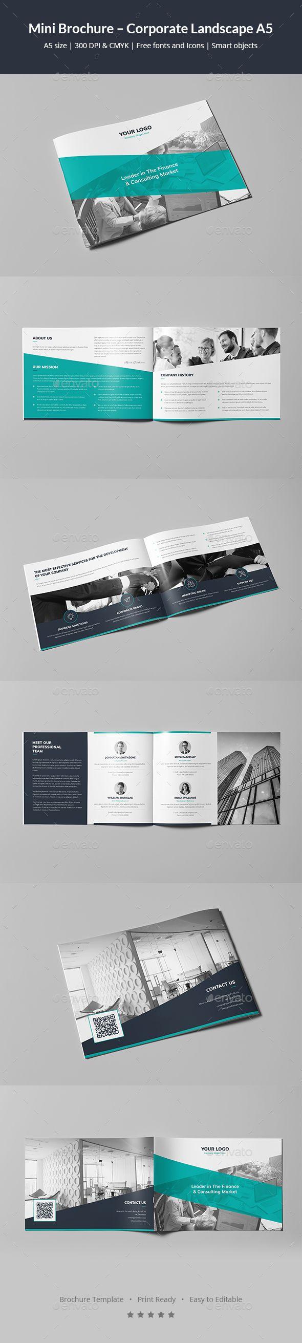 Mini Brochure Corporate Landscape A5 Brochures Brochure