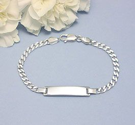 Boys Sterling Id Bracelet A Quality Made Traditional In Two Sizes