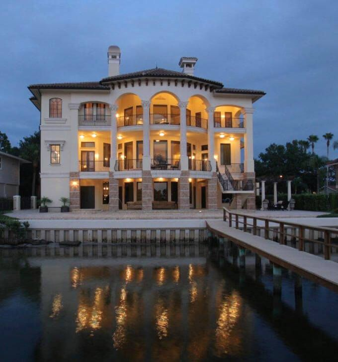 Venetian italian style villa luxury home design for Palace design homes