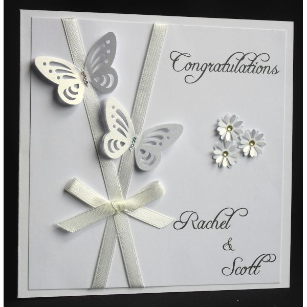 Handmade Butterfly Wedding Card All Our Cards Are Made To Order And Personal To The Recipient