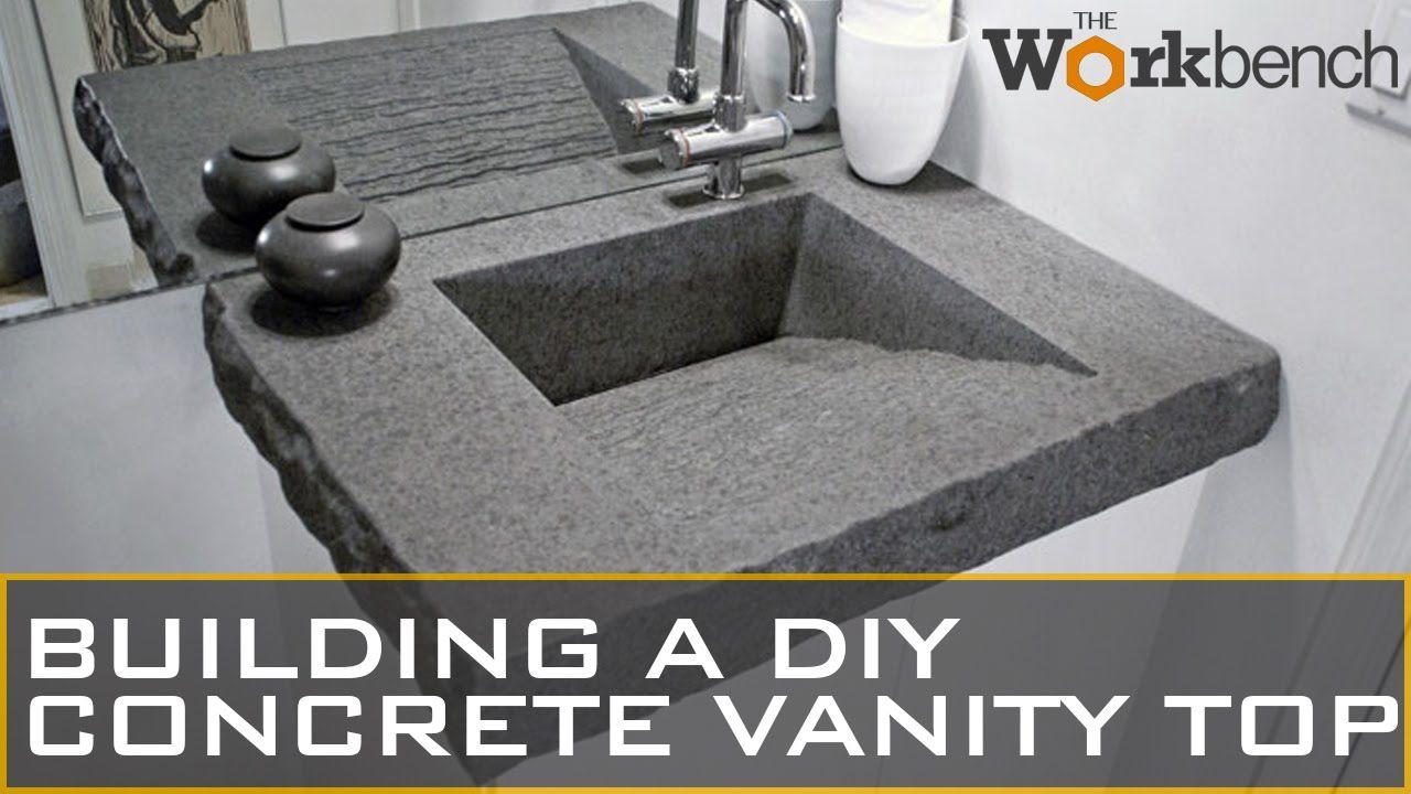 diy concrete vanity top