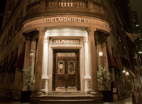 Front Entrance Of The Original Delmonico S Steakhouse Restaurant In Nyc