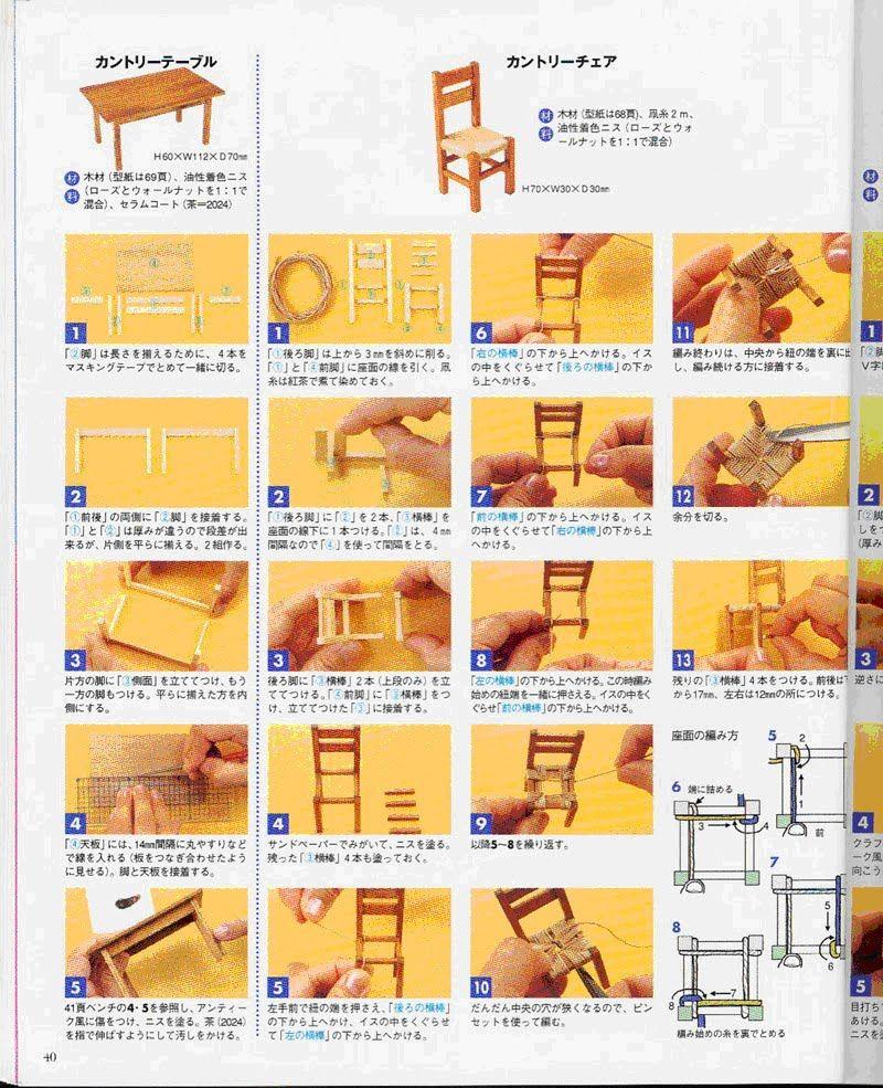 tutoriales mundomini diy pinterest miniatur. Black Bedroom Furniture Sets. Home Design Ideas
