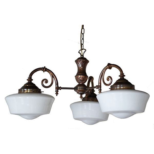 Clones Three Arm 1920 S Schoolhouse Chandelier Bedroom Light Fixtures Dining Room Light Fixtures Lights Over Dining Table