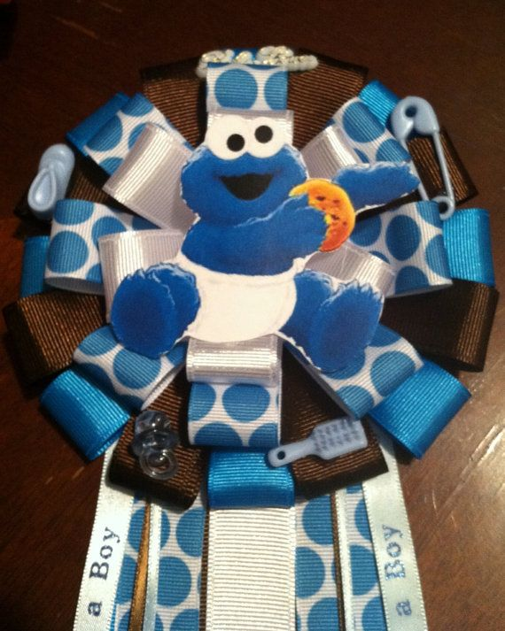 Perfect Boy Baby Showers · Cookie Monster Corsage On Etsy, $25.00