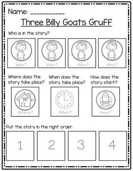 Story Mapping and Sequencing - Three Billy Goats Gruff ...