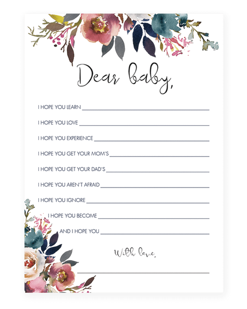 Baby Wishes Printable For Boho Baby Party In 2018 Baby Shower