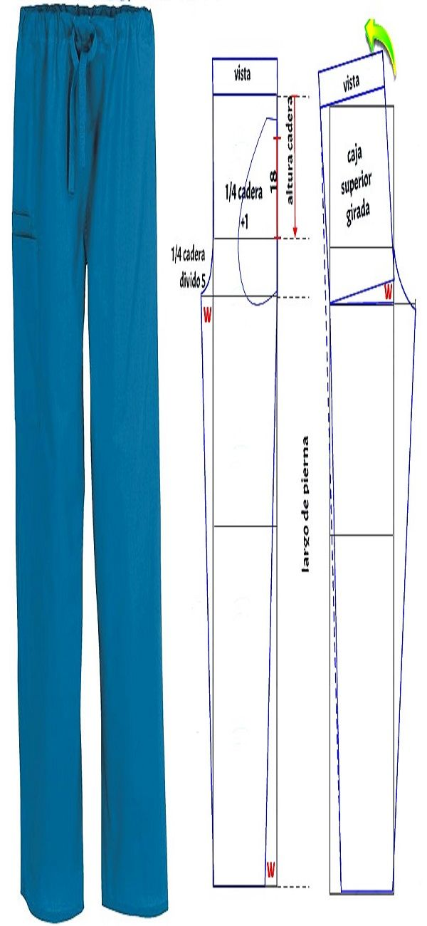 Pantalon uniforme medico #patrones #costura #moldes #patronaje ...