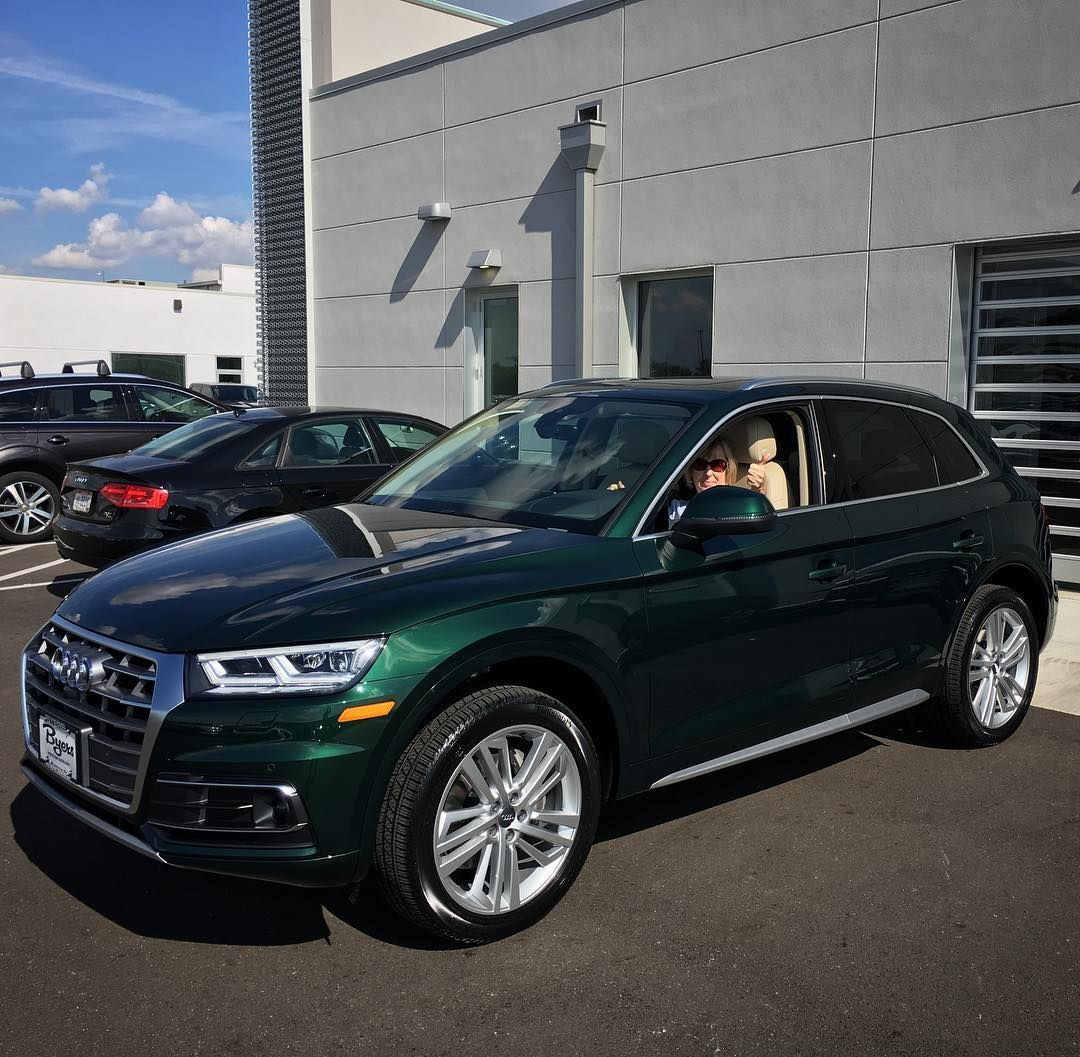 Thumbs Up From Our Friend Lee As She Drove Off In Her New Azores Green Audi Q5 Audi Q5 Audi Automotive