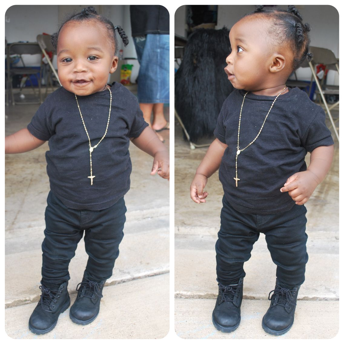eeba6a43a All black Blackout Baby swag Gold chain Piece and chain Rhouri ...
