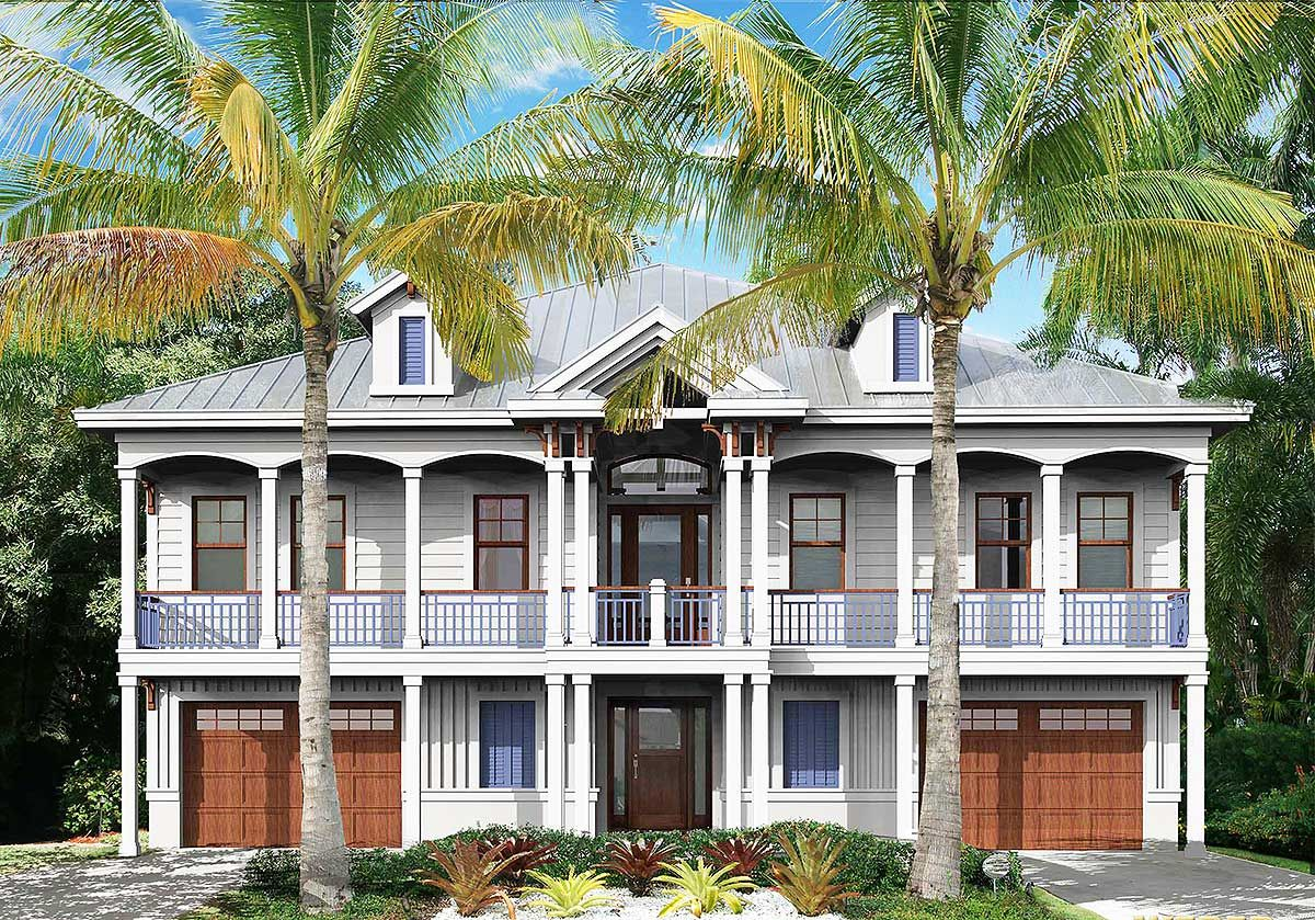 Plan 66382we Charming Low Country House Plan Coastal House Plans Beach House Plans Bay House
