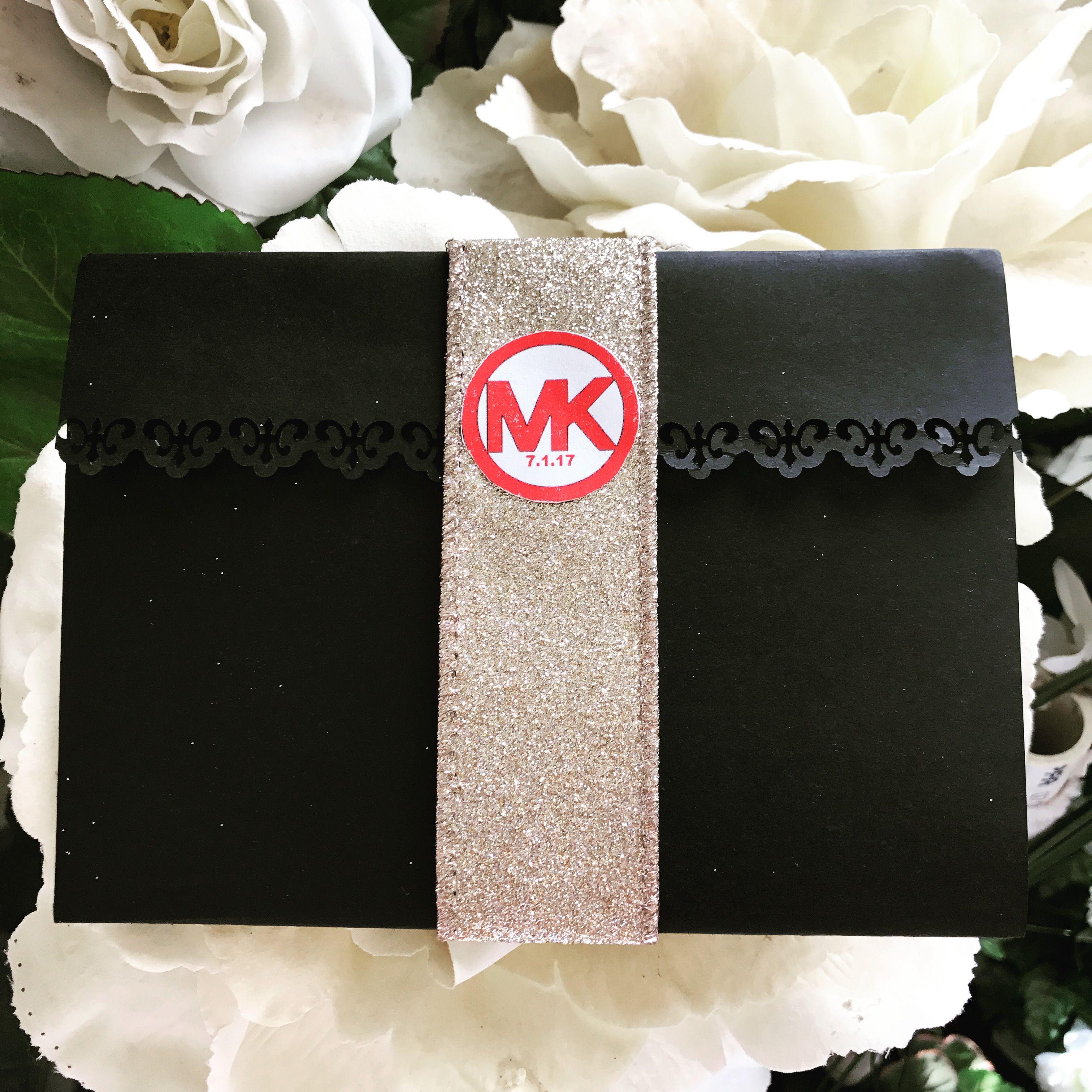 My wedding invitation i love michael kors our initials are matt