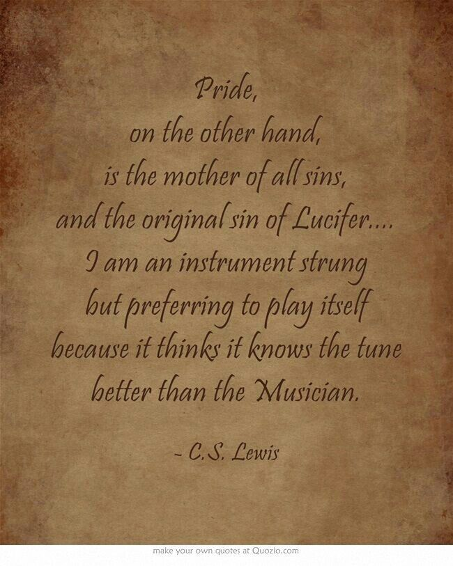 c.s. lewis on pride.