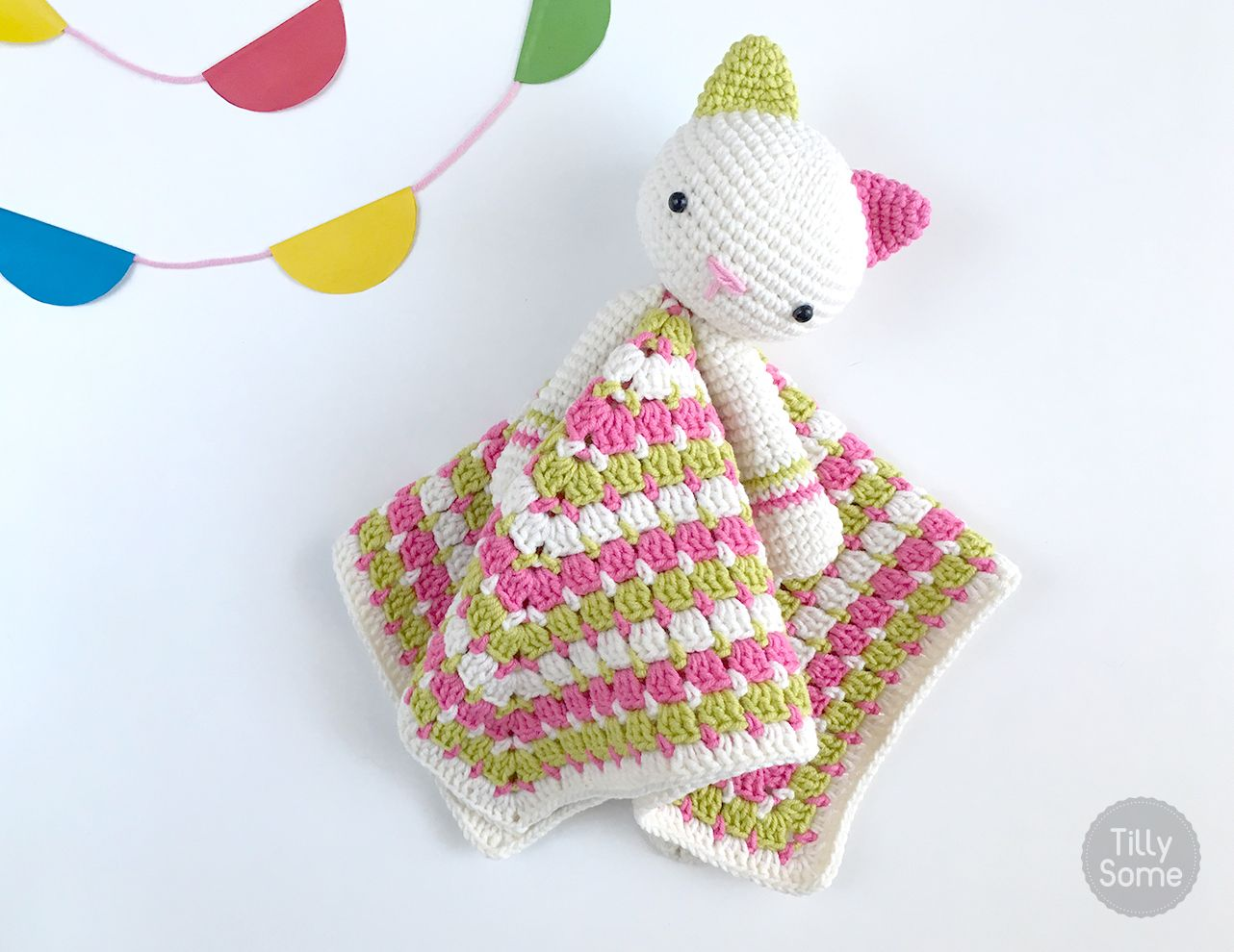 This adorable Kitty lovey is a plush toy and security blanket all in ...
