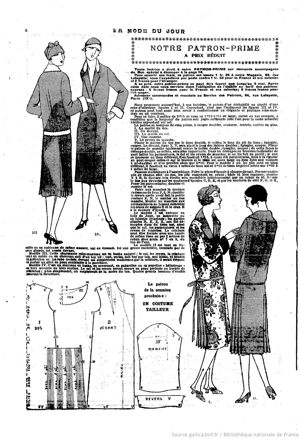 La Mode du jour. [1926/04/29 | 1920-1950 | Pinterest | Moda, Moda ...