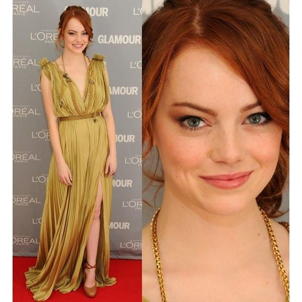 Emma Stone de vestido e acessórios Lanvin Hot or Not? Hot or Not ❤ liked on Polyvore featuring emma stone