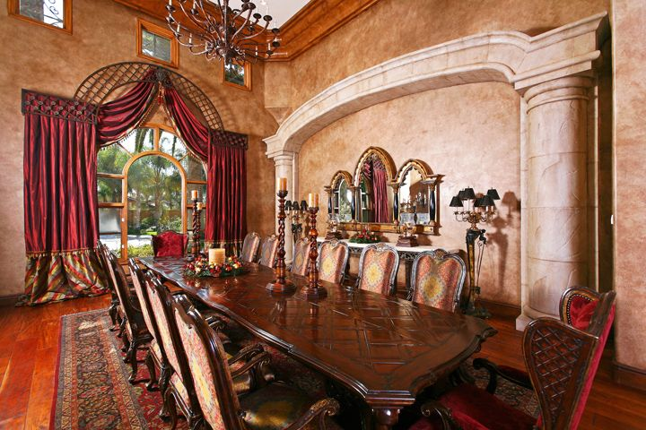 Fit For Royalty The Formal Dining Room Is Embodiment Of Italian Luxury