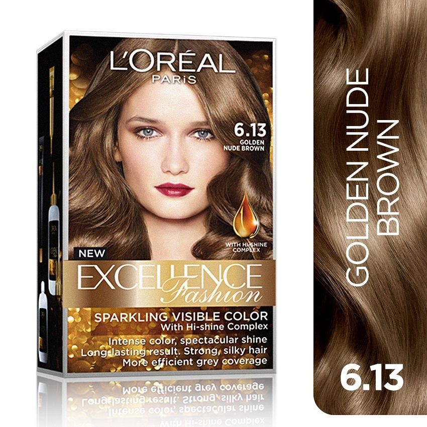 Loreal Paris Excellence Fashion Hair Color 14g No 6 13 Golden Nude