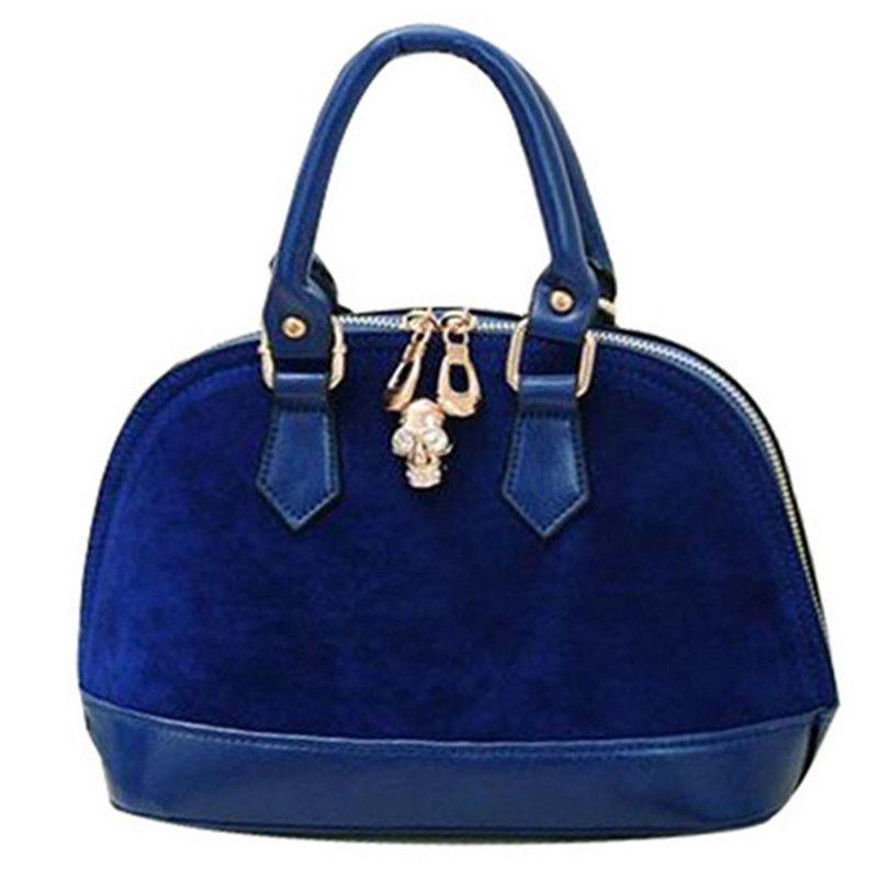 2017 Famous Brand Fashion Shell-shaped Bag Solid Color Mini Handbag Pu  Leather Skull Head 8b19030aeb