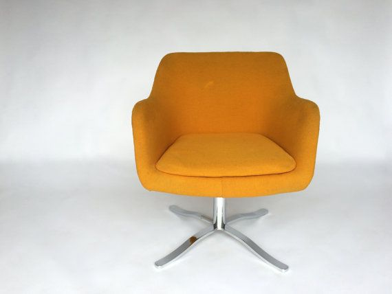 Beau Vintage Nico Zographos Swivel Bucket Chair Alpha Flat Bar
