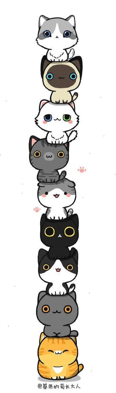 Pin By Wara Na On My Saves Pinterest Dessin Kawaii Chat And