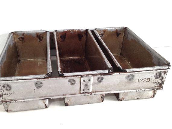 Vintage Mackie Bread Tins Trio Commercial Industrial Baking Pans